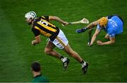 31 October 2020; Padraig Walsh of Kilkenny in action against Éamon Dillon of Dublin during the Leinster GAA Hurling Senior Championship Semi-Final match between Dublin and Kilkenny at Croke Park in Dublin. Photo by Ramsey Cardy/Sportsfile