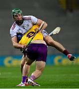 31 October 2020; Cathal Mannion of Galway in action against Kevin Foley of Wexford during the Leinster GAA Hurling Senior Championship Semi-Final match between Galway and Wexford at Croke Park in Dublin. Photo by Ramsey Cardy/Sportsfile