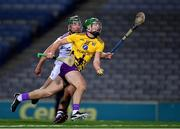 31 October 2020; Aidan Nolan of Wexford in action against Fintan Burke of Galway during the Leinster GAA Hurling Senior Championship Semi-Final match between Galway and Wexford at Croke Park in Dublin. Photo by Ray McManus/Sportsfile