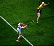31 October 2020; Conor Whelan of Galway in action against Liam Ryan of Wexford during the Leinster GAA Hurling Senior Championship Semi-Final match between Galway and Wexford at Croke Park in Dublin. Photo by Daire Brennan/Sportsfile