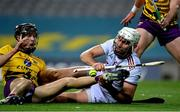 31 October 2020; Jason Flynn of Galway and Joe O'Connor of Wexford during the Leinster GAA Hurling Senior Championship Semi-Final match between Galway and Wexford at Croke Park in Dublin. Photo by Ramsey Cardy/Sportsfile