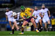 31 October 2020; Conor McDonald of Wexford in action against Shane Cooney of Galway during the Leinster GAA Hurling Senior Championship Semi-Final match between Galway and Wexford at Croke Park in Dublin. Photo by Ray McManus/Sportsfile