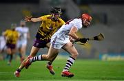 31 October 2020; Conor Whelan of Galway in action against Joe O'Connor of Wexford during the Leinster GAA Hurling Senior Championship Semi-Final match between Galway and Wexford at Croke Park in Dublin. Photo by Ramsey Cardy/Sportsfile
