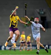 31 October 2020; Conor McDonald of Wexford in action against Joe Canning of Galway during the Leinster GAA Hurling Senior Championship Semi-Final match between Galway and Wexford at Croke Park in Dublin. Photo by Ramsey Cardy/Sportsfile
