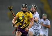 31 October 2020; Jack O'Connor of Wexford in action against Padraic Mannion of Galway during the Leinster GAA Hurling Senior Championship Semi-Final match between Galway and Wexford at Croke Park in Dublin. Photo by Ramsey Cardy/Sportsfile