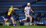 31 October 2020; Jason Flynn of Galway in action against Aidan Nolan of Wexford during the Leinster GAA Hurling Senior Championship Semi-Final match between Galway and Wexford at Croke Park in Dublin. Photo by Ray McManus/Sportsfile