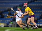 31 October 2020; Fintan Burke of Galway in action against Paudie Foley of Wexford during the Leinster GAA Hurling Senior Championship Semi-Final match between Galway and Wexford at Croke Park in Dublin. Photo by Ray McManus/Sportsfile