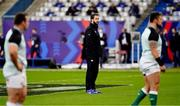 31 October 2020; Ireland head coach Andy Farrell prior to the Guinness Six Nations Rugby Championship match between France and Ireland at Stade de France in Paris, France. Photo by Sportsfile