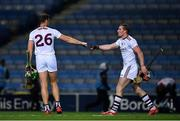31 October 2020; Niall Burke of Galway and team mate Conor Whelan, right, after the Leinster GAA Hurling Senior Championship Semi-Final match between Galway and Wexford at Croke Park in Dublin. Photo by Ray McManus/Sportsfile