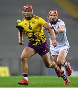 31 October 2020; Lee Chin of Wexford in action against Conor Whelan of Galway during the Leinster GAA Hurling Senior Championship Semi-Final match between Galway and Wexford at Croke Park in Dublin. Photo by Ramsey Cardy/Sportsfile