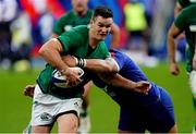 31 October 2020; Jonathan Sexton of Ireland is tackled during the Guinness Six Nations Rugby Championship match between France and Ireland at Stade de France in Paris, France. Photo by Sportsfile