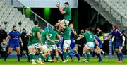 31 October 2020; James Ryan of Ireland wins a lineout during the Guinness Six Nations Rugby Championship match between France and Ireland at Stade de France in Paris, France. Photo by Sandra Ruhaut/Sportsfile