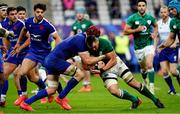 31 October 2020; CJ Stander of Ireland is tackled by Bernard le Roux of France during the Guinness Six Nations Rugby Championship match between France and Ireland at Stade de France in Paris, France. Photo by Sportsfile