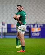 31 October 2020; Robbie Henshaw of Ireland after the Guinness Six Nations Rugby Championship match between France and Ireland at Stade de France in Paris, France. Photo by Sportsfile