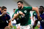 31 October 2020; Robbie Henshaw of Ireland makes a break to set up his second try during the Guinness Six Nations Rugby Championship match between France and Ireland at Stade de France in Paris, France. Photo by Sportsfile