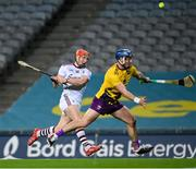 31 October 2020; Conor Whelan of Galway during the Leinster GAA Hurling Senior Championship Semi-Final match between Galway and Wexford at Croke Park in Dublin. Photo by Ramsey Cardy/Sportsfile