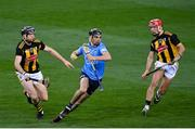 31 October 2020; Danny Sutcliffe of Dublin in action against Walter Walsh, left, and Cillian Buckley of Kilkenny during the Leinster GAA Hurling Senior Championship Semi-Final match between Dublin and Kilkenny at Croke Park in Dublin. Photo by Ramsey Cardy/Sportsfile