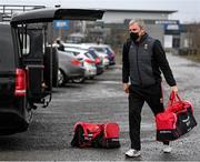 1 November 2020; Mayo manager James Horan arrives ahead of the Connacht GAA Football Senior Championship Quarter-Final match between Leitrim and Mayo at Avantcard Páirc Sean Mac Diarmada in Carrick-on-Shannon, Leitrim. Photo by Ramsey Cardy/Sportsfile