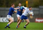 31 October 2020; Dermot Malone of Monaghan in action against Jason McLoughlin of Cavan during the Ulster GAA Football Senior Championship Preliminary Round match between Monaghan and Cavan at St Tiernach's Park in Clones, Monaghan. Photo by Stephen McCarthy/Sportsfile