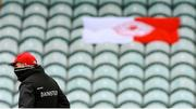 1 November 2020; Tyrone manager Mickey Harte prior to the Ulster GAA Football Senior Championship Quarter-Final match between Donegal and Tyrone at MacCumhaill Park in Ballybofey, Donegal. Photo by Stephen McCarthy/Sportsfile