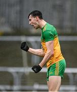 1 November 2020; Michael Langan of Donegal celebrates after scoring his side's first goal during the Ulster GAA Football Senior Championship Quarter-Final match between Donegal and Tyrone at Pairc MacCumhaill in Ballybofey, Donegal. Photo by Harry Murphy/Sportsfile