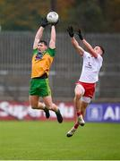 1 November 2020; Jamie Brennan of Donegal in action against Liam Rafferty of Tyrone during the Ulster GAA Football Senior Championship Quarter-Final match between Donegal and Tyrone at MacCumhaill Park in Ballybofey, Donegal. Photo by Stephen McCarthy/Sportsfile