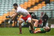 1 November 2020; Conor McKenna of Tyrone in action against Michael Murphy of Donegal during the Ulster GAA Football Senior Championship Quarter-Final match between Donegal and Tyrone at Pairc MacCumhaill in Ballybofey, Donegal. Photo by Harry Murphy/Sportsfile
