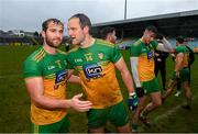 1 November 2020; Stephen McMenamin, left, and Michael Murphy of Donegal following the Ulster GAA Football Senior Championship Quarter-Final match between Donegal and Tyrone at MacCumhaill Park in Ballybofey, Donegal. Photo by Stephen McCarthy/Sportsfile