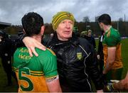 1 November 2020; Donegal manager Declan Bonner and Ryan McHugh following the Ulster GAA Football Senior Championship Quarter-Final match between Donegal and Tyrone at MacCumhaill Park in Ballybofey, Donegal. Photo by Stephen McCarthy/Sportsfile