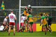 1 November 2020; Hugh McFadden, left, and Ryan McHugh of Donegal clear the final attack of the game from under their own posts during the Ulster GAA Football Senior Championship Quarter-Final match between Donegal and Tyrone at MacCumhaill Park in Ballybofey, Donegal. Photo by Stephen McCarthy/Sportsfile