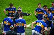 1 November 2020; Tipperary manager David Power speaks to his players during a water break in the Munster GAA Football Senior Championship Quarter-Final match between Tipperary and Clare at Semple Stadium in Thurles, Tipperary. Photo by Diarmuid Greene/Sportsfile