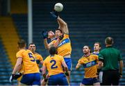 1 November 2020; Steven O'Brien of Tipperary in action against Gary Brennan of Clare during the Munster GAA Football Senior Championship Quarter-Final match between Tipperary and Clare at Semple Stadium in Thurles, Tipperary. Photo by Diarmuid Greene/Sportsfile