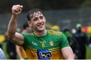 1 November 2020; Hugh McFadden of Donegal celebrates following the Ulster GAA Football Senior Championship Quarter-Final match between Donegal and Tyrone at MacCumhaill Park in Ballybofey, Donegal. Photo by Stephen McCarthy/Sportsfile