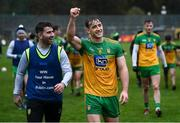 1 November 2020; Hugh McFadden and Paddy McBrearty, left, of Donegal celebrate following the Ulster GAA Football Senior Championship Quarter-Final match between Donegal and Tyrone at MacCumhaill Park in Ballybofey, Donegal. Photo by Stephen McCarthy/Sportsfile