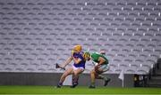 1 November 2020; Mark Kehoe of Tipperary in action against Dan Morrissey of Limerick during the Munster GAA Hurling Senior Championship Semi-Final match between Tipperary and Limerick at Páirc Uí Chaoimh in Cork. Photo by Ray McManus/Sportsfile