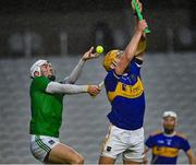 1 November 2020; Aaron Gillane of Limerick catches the sliotar ahead of Ronan Maher of Tipperary during the Munster GAA Hurling Senior Championship Semi-Final match between Tipperary and Limerick at Páirc Uí Chaoimh in Cork. Photo by Brendan Moran/Sportsfile