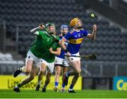 1 November 2020; Séamus Callanan of Tipperary in action against William O'Donoghue of Limerick during the Munster GAA Hurling Senior Championship Semi-Final match between Tipperary and Limerick at Páirc Uí Chaoimh in Cork. Photo by Daire Brennan/Sportsfile