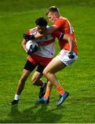 1 November 2020; Chrissy McKaigue of Derry is tackled by Rian O'Neill of Armagh during the Ulster GAA Football Senior Championship Quarter-Final match between Derry and Armagh at Celtic Park in Derry. Photo by David Fitzgerald/Sportsfile