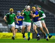 1 November 2020; Séamus Callanan of Tipperary in action against Kyle Hayes, left, and William O'Donoghue of Limerick during the Munster GAA Hurling Senior Championship Semi-Final match between Tipperary and Limerick at Páirc Uí Chaoimh in Cork. Photo by Daire Brennan/Sportsfile