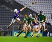 1 November 2020; Kyle Hayes of Limerick in action against Niall O'Meara of Tipperary during the Munster GAA Hurling Senior Championship Semi-Final match between Tipperary and Limerick at Páirc Uí Chaoimh in Cork. Photo by Daire Brennan/Sportsfile