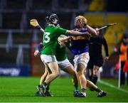 1 November 2020; Ronan Maher of Tipperary in action against Graeme Mulcahy of Limerick during the Munster GAA Hurling Senior Championship Semi-Final match between Tipperary and Limerick at Páirc Uí Chaoimh in Cork. Photo by Daire Brennan/Sportsfile