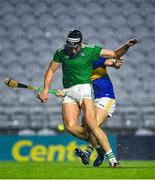 1 November 2020; Gearoid Hegarty of Limerick is fouled which resulted in a Limerick penalty during the Munster GAA Hurling Senior Championship Semi-Final match between Tipperary and Limerick at Páirc Uí Chaoimh in Cork. Photo by Daire Brennan/Sportsfile