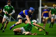 1 November 2020; Kyle Hayes of Limerick in action against John McGrath of Tipperary during the Munster GAA Hurling Senior Championship Semi-Final match between Tipperary and Limerick at Páirc Uí Chaoimh in Cork. Photo by Brendan Moran/Sportsfile