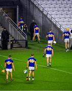 1 November 2020; Dejected Tipperary players leave the pitch after the Munster GAA Hurling Senior Championship Semi-Final match between Tipperary and Limerick at Páirc Uí Chaoimh in Cork. Photo by Daire Brennan/Sportsfile