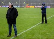 1 November 2020; RTE floor manager Joachim Burrowes during the Ulster GAA Football Senior Championship Quarter-Final match between Donegal and Tyrone at MacCumhaill Park in Ballybofey, Donegal. Photo by Stephen McCarthy/Sportsfile