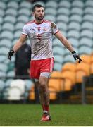 1 November 2020; Conor McKenna of Tyrone during the Ulster GAA Football Senior Championship Quarter-Final match between Donegal and Tyrone at Pairc MacCumhaill in Ballybofey, Donegal. Photo by Harry Murphy/Sportsfile