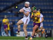 31 October 2020; Shane Cooney of Galway in action against Conor McDonald of Wexford during the Leinster GAA Hurling Senior Championship Semi-Final match between Galway and Wexford at Croke Park in Dublin. Photo by Ray McManus/Sportsfile