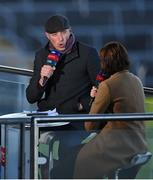 31 October 2020; Sky Sports GAA Football analyst Kieran Donaghy analysing the Monaghan v Cavan game from their studio in Semple Stadium prior to the Munster GAA Hurling Senior Championship Semi-Final match between Cork and Waterford in Thurles, Tipperary. Photo by Brendan Moran/Sportsfile