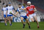 31 October 2020; Jamie Barron of Waterford in action against Damien Cahalane of Cork during the Munster GAA Hurling Senior Championship Semi-Final match between Cork and Waterford at Semple Stadium in Thurles, Tipperary. Photo by Piaras Ó Mídheach/Sportsfile