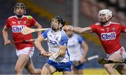 31 October 2020; Jamie Barron of Waterford in action against Damien Cahalane, right, and Robert Downey of Cork during the Munster GAA Hurling Senior Championship Semi-Final match between Cork and Waterford at Semple Stadium in Thurles, Tipperary. Photo by Piaras Ó Mídheach/Sportsfile